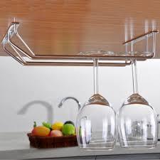 Wine Glass Holder Under Cabinet Kitchen Beautiful Kitchen Decoration With Stemware Rack