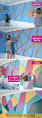 modern art wall design diy for the coolest geometric wall ever