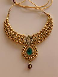 red gold necklace images Gold plated green and red color party wear kundan necklace jpg