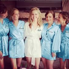 bridesmaid satin robes bridesmaids robes monogrammed robes bridal satin robes