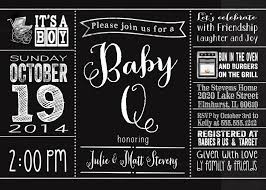 baby q shower invitation and personalized sign modern typography