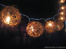 rattan ball fairy lights string ball lights hommum com
