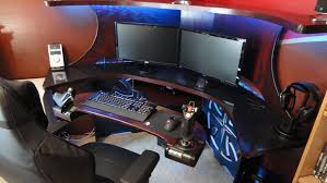 Custom Gaming Desk Furniture Pc Gaming Desk Album On Imgur Then Furniture Stunning