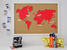 diy wall art make a custom corkboard world map hgtv