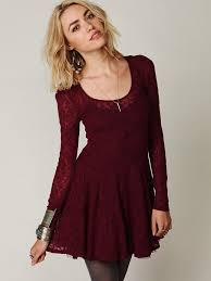 free people floral lace fit and flare dress lyst