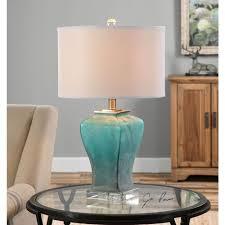 uttermost valtorta blue green glass table lamp 26651 1