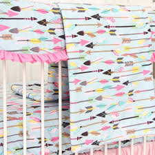 Aqua And Pink Crib Bedding by Tribal Crib Bedding Creative Ideas Of Baby Cribs
