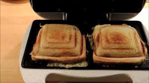Breakfast Sandwich Toaster Cheese And Ham Toast In A Sandwich Maker Melissa Toaster Youtube