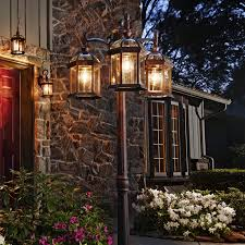 solar powered outdoor l post lights solar l post light pixball com