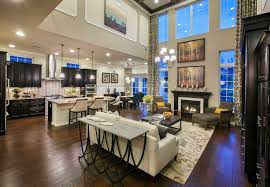 beautiful open living room attached to the kitchen dining room
