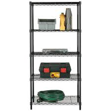 Wire Shelf Units Stor 5 Tier Wire Shelving Unit By Stor At Mills Fleet Farm