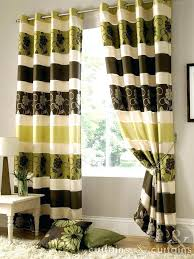 Green And Brown Curtains Green Curtains Eyelet Shower Curtain Grey Green