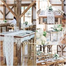 ivory lace table runner 12 wide wedding decor overlay tabletop