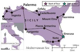 Map Of Italy And Sicily by Sights And Soul Travels Italy The Secrets Of Sicily Overview