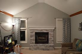 decor white brick fireplace makeover with gray wall painting and