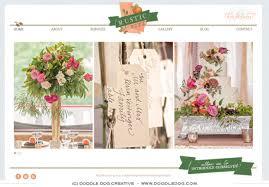 wedding planner website website design custom rustic branding wedding