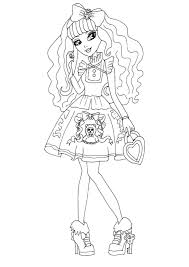 ever after high coloring pages 2 coloring page