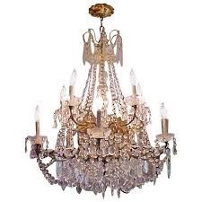 Marie Therese Crystal Chandelier Lustrous 19th Century Ten Light Large French Louis Xv Multi