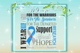 i wear blue gray diabetes awareness design bundles