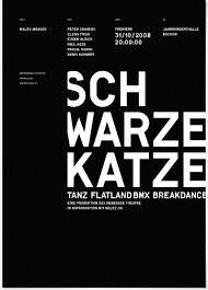 plakat design schwarze katze raffael stüken büro für grafik design