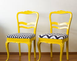 French Yellow Chair French Chairs Etsy