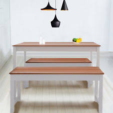 Bench Dining Table Dining Table And Bench Set Ebay
