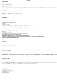 Sample Resume Computer Technician by Printable General Technician Resume Sample With Personal Detail