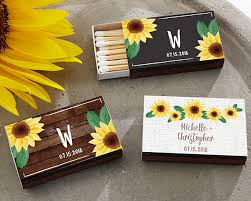 sunflower wedding favors personalized sunflower black matchboxes set of 50 my wedding