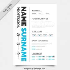 creative resume template free creative resume template vector free