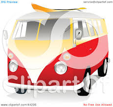 volkswagen hippie van clipart clipart illustration of a 3d orange and yellow vw van with a surf