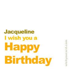 happy birthday jacqueline free e cards