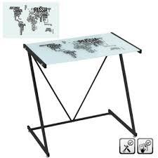 bureau metal et verre bureau mappemonde en verre et métal yesdeko com
