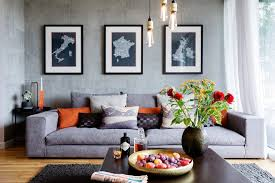 good looking burnt orange sofa interior designs with industrial