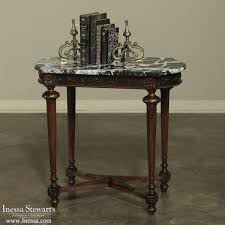 Marble Top Sofa Table by 19th Century Neoclassical Marble Top End Table Inessa Stewart U0027s