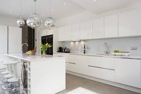 Kitchen Contemporary Cabinets Reflections High Gloss White Kitchen Modern Other Cabinets