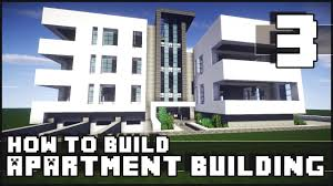 minecraft how to build modern apartment building part 3