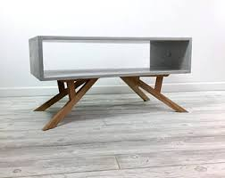 modern wood coffee table modern coffee table etsy