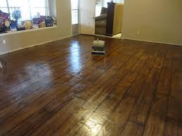 Floating Laminate Floor Over Concrete Living Room Interior Light Brown No Gap Floating Vinyl Plank
