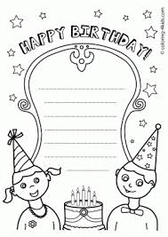 coloring pages for birthdays printables birthday coloring pages for kids birthday party coloring pages