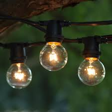 c9 incandescent light strings 100 ft black commercial c9 string light with g40 clear bulbs
