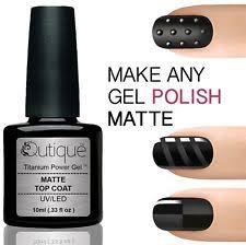 matte gel top coat nail polish ebay