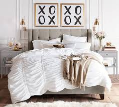 Low Frame Beds Upholstered Tufted Low Bed Headboard Pottery Barn