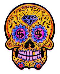 dia de los muertos skull paint for sugar skulls artsy and