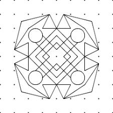 rangoli patterns using mathematical shapes rangoli kolam or madana traditional indian geometrical patterns