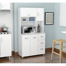 small kitchen cabinets walmart inval 4 door laminate microwave kitchen cabinet white