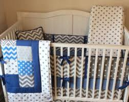 Denim Crib Bedding Items Similar To Navy Blue And Green Baby Boy Crib Bedding Set