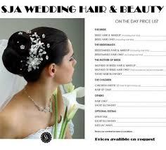 wedding hair prices wedding hair beauty by sja mobile hairdresser in coleshill