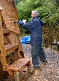 wood carving and carving large sculptures in cornwall