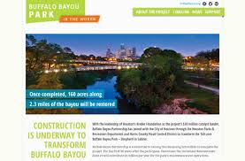 Buffalo Bayou Park Map Buffalo Bayou Park Core Design Studio