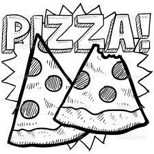 13 images of pizza slice coloring page pepperoni pizza slice